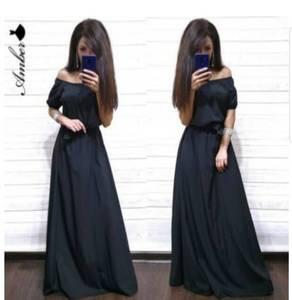 Платье длинное однотонное Ю9602