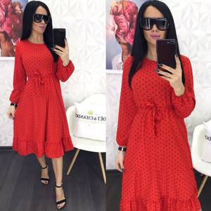 Платье короткое с длинным рукавом Я0885