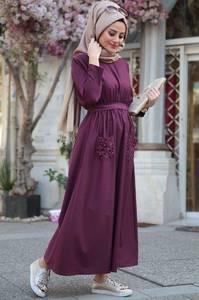 Платье длинное однотонное А01029