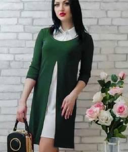 Платье Двойка короткое однотонное современное Т7811
