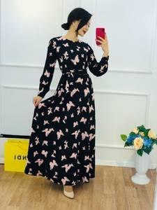 Платье длинное с принтом Ю5777