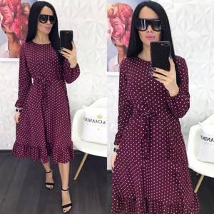 Платье короткое с длинным рукавом Я0886