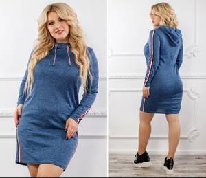 Платье короткое однотонное Ч7467