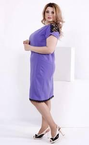Платье короткое нарядное с кружевом Т7827