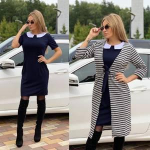 Платье Двойка короткое современное Ш1937