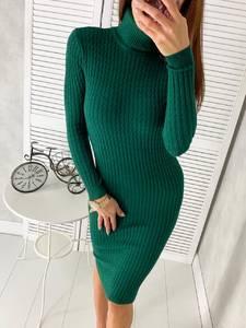 Платье короткое с длинным рукавом Ш2304