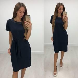 Платье короткое нарядное однотонное Т7844