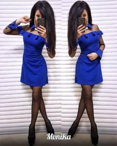 Платье короткое с длинным рукавом Ш3009