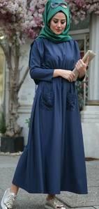 Платье длинное однотонное А01031
