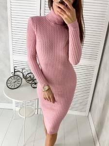 Платье короткое с длинным рукавом Ш2305