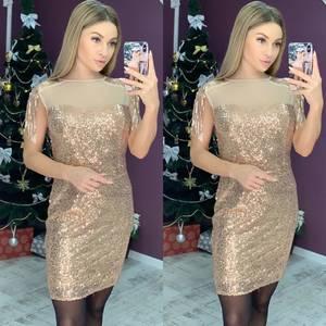 Платье короткое нарядное Ш8273
