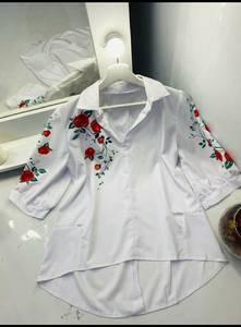 Блуза с цветочным принтом А48614