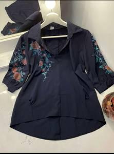 Блуза с цветочным принтом А48615