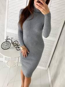 Платье короткое с длинным рукавом Ш2307