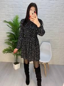 Платье короткое с длинным рукавом А32274