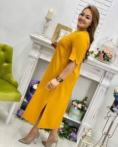 Платье длинное однотонное А30520