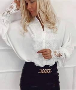 Блуза с кружевом А29579