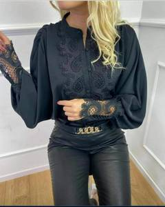 Блуза с кружевом А29580