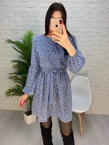 Платье короткое с длинным рукавом А32275