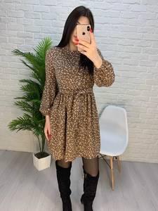 Платье короткое с длинным рукавом А32276