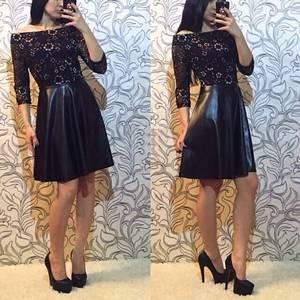 Платье короткое вечернее черное П1379