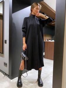 Платье длинное с длинными рукавами А29594