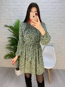 Платье короткое с длинным рукавом А32277