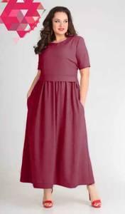 Платье длинное однотонное Я7136