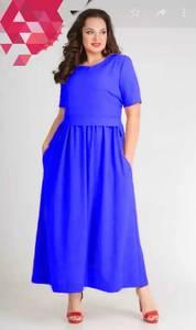 Платье длинное однотонное Я7137