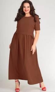 Платье длинное однотонное Я7139