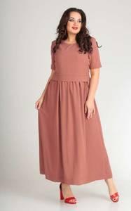 Платье длинное однотонное Я7140