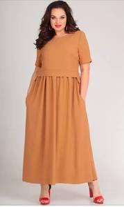 Платье длинное однотонное Я7141