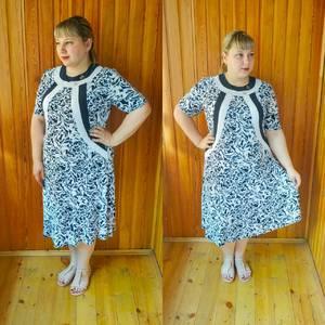 Платье длинное летнее с принтом У7476