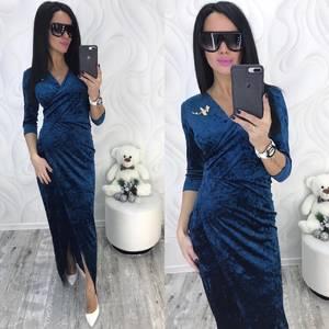 Платье длинное с разрезом на ноге нарядное Ф8730