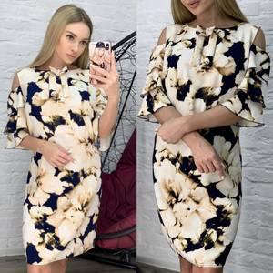 Платье короткое нарядное Ю6475