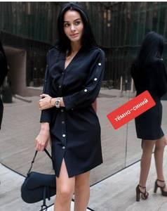 Платье короткое с длинным рукавом Ю7651