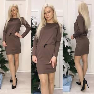 Платья короткое повседневное с длинным рукавом Х0151