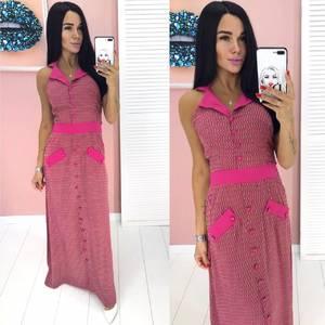 Платье длинное летнее А00287