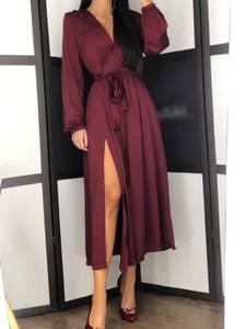 Платье длинное однотонное А09789
