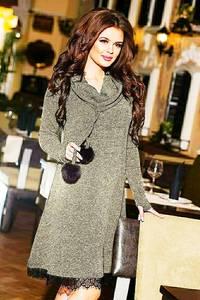Платье короткое с длинным рукавом А23086