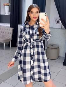 Платье короткое с длинным рукавом А27787