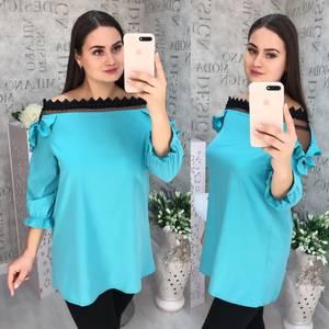 Блуза с кружевом Ч1066