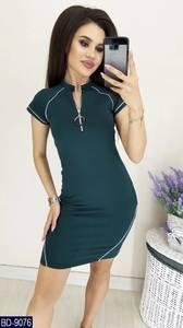 Платье короткое облегающее Ч2590