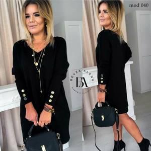 Платье короткое черное Ю4711