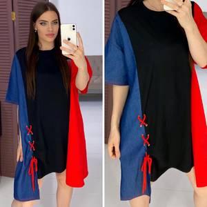 Платье короткое повседневное Я8583