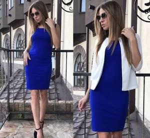 Платье Двойка короткое нарядное Я2055