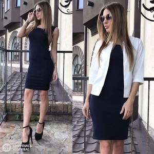 Платье Двойка короткое нарядное Я2057