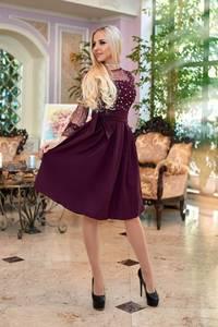 Платье короткое нарядное Ю4183