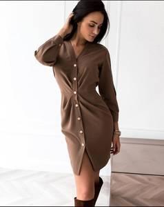 Платье короткое с длинным рукавом Ю7652