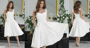 Платье короткое коктейльное Я4295